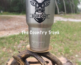 Yeti Decal, Deer Head Decal, Hunting Decal, Name Decal