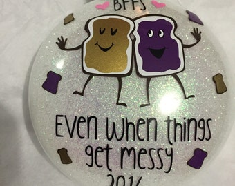 Peanut butter and jelly Best friends ornament