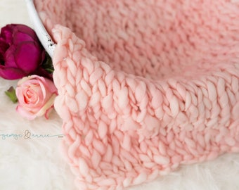 Mini Blanket - 100% Merino Wool -Taffy - Photography Prop - Basket Stuffer