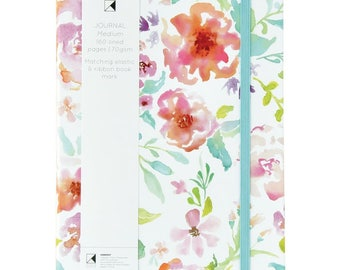 """Kaisercraft Kaiser Style Medium 5.75"""" x 8.25"""" WILDFLOWER Journal with 160 lined pages"""