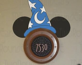 DCL Stateroom Door Porthole Ears - Sorcerer