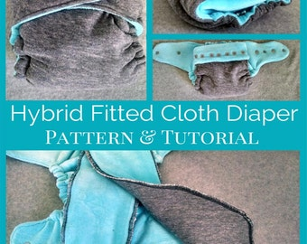 Cloth Diaper Pattern and Tutorial - OS Hybrid Fitted Style - Instant Download - In Depth 21 Page Step by Step PDF - Eco Friendly Diaper