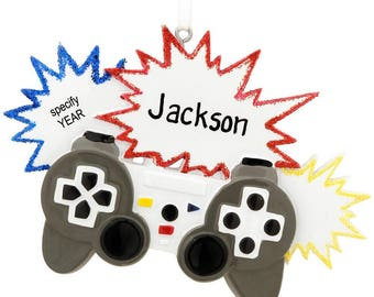 Personalized Video Gamer Controller Christmas Tree Ornament
