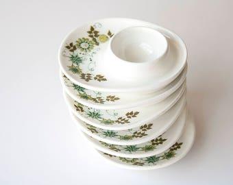Vintage Scandinavian Modern Figgjo Flint Norway Egg Cups - Turi Gramstad Oliver