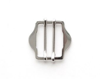 20 pcs of metal vest buckles 25mm x 18mm (silver finish)