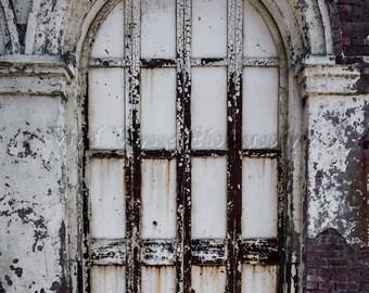 Door Photograph, Instant Download, Industrial Home Decor, Brick Building, Warehouse Door, Architectural Photography, Digital Download