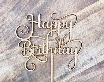Happy Birthday Cake Topper Birthday Topper Cake Decoration Cake Decorating Cake Toppers Birthday Cake Topper SMTV6 SugarBoo