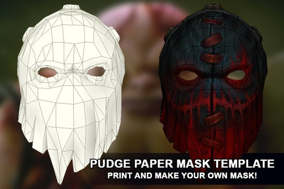 Pudge paper mask template for pepakura! Make your own mask from dota ...