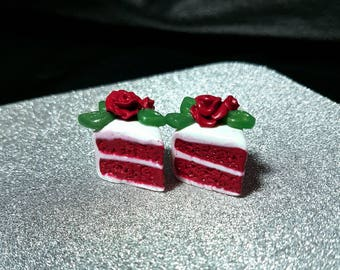 Cute polymer clay red velvet cake planner-knitting charm/ cell phone charm/ necklace
