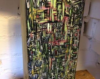 Abstract Art wood block