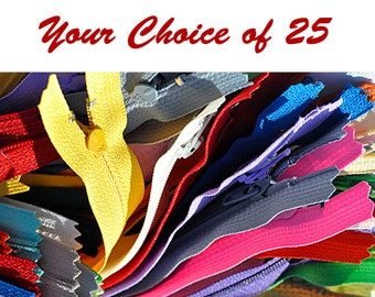 YKK ZIPPERS Your Choice of 25 Nylon Coil Zippers Tailor Sewer and Crafter's Special YKK® #3 Skirt & Dress Closed Bottom (Options length)