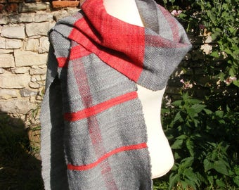 Hand woven scarf made of hand-woven wool/sheep wool
