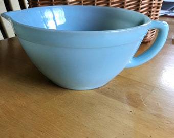 Fire King Turquouse Blue Batter Bowl