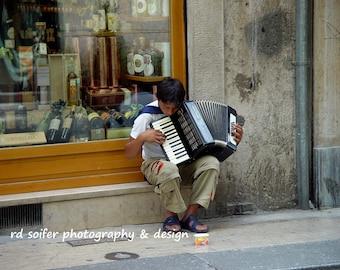Italian Street Music, Italy Accordian Player, Italy Photography, Verona Italy, Italy Street Art, Italian Music Art, Accordian Art