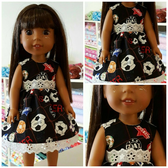 Soccer Dress for the 14.5 Inch Doll Wellie