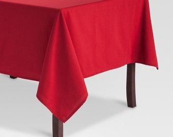 70 X 70 Ruby Red Tablecloth