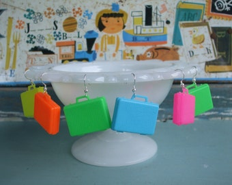 Suitcase Earrings Travel Mix You Choose Colors Kawaii Cuties