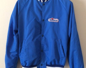 Vintage Hostess Bakery Nylon Jacket, Men's M, Advertising, USA Made, c. 1980s, Hipster