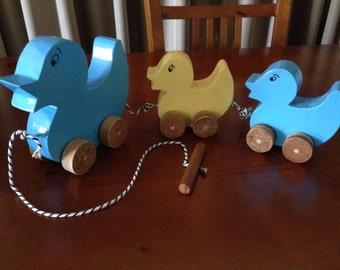 Handmade Mother Duck & Duckling