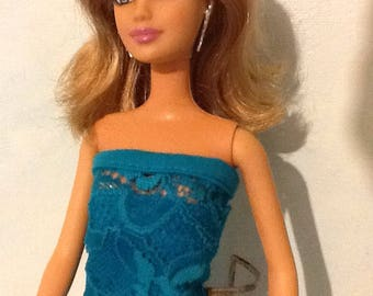 Barbie Teal Lace Gown