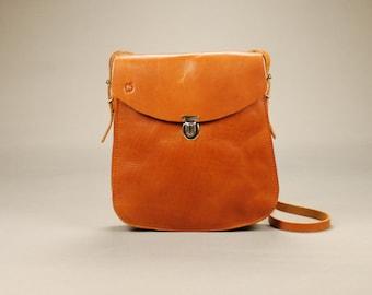 Redoker Simple Satchel - Genuine leather satchel / Womens satchel / Handbag / Shoulder bag / Crossbody bag