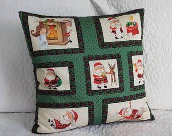 Santa back Gray 50 x 50 Christmas Cushion cover
