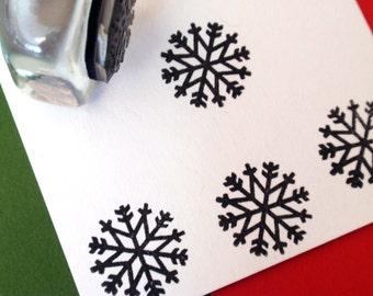 Winter Snowflake Rubber Stamp for Tags, envelopes, stickers - Handmade by BlossomStamps