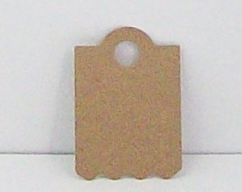 60  Kraft Hang Tags, Price tags, embossed hang tags, embossed gift tags, embossed Kraft paper tags