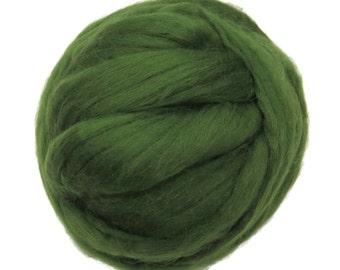 Merino Silk Roving Ivy- Neutral Color Mulberry Wool Silk Blend Fiber for Spinning & Felting