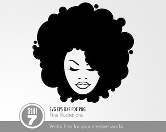 Afro Style #6 svg dxf eps pdf png