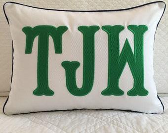 Applique Monogram Pillow Cover