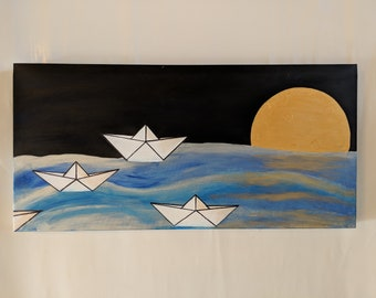Paper Boats and the Moon