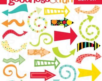 Buy 2, Get 1 FREE - Arrows of Fun Clipart - Digital Arrows Clipart - Instant Download