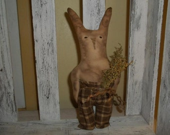 Primitive Handmade Bunny Tuck ~ Spring