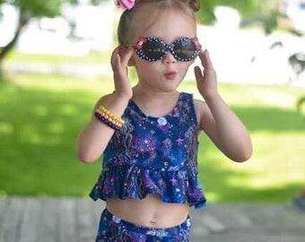 Girls bathing suit - girls swimsuit - toddler bathing suit - girls two-piece swimsuit - girls two-piece bathing suit