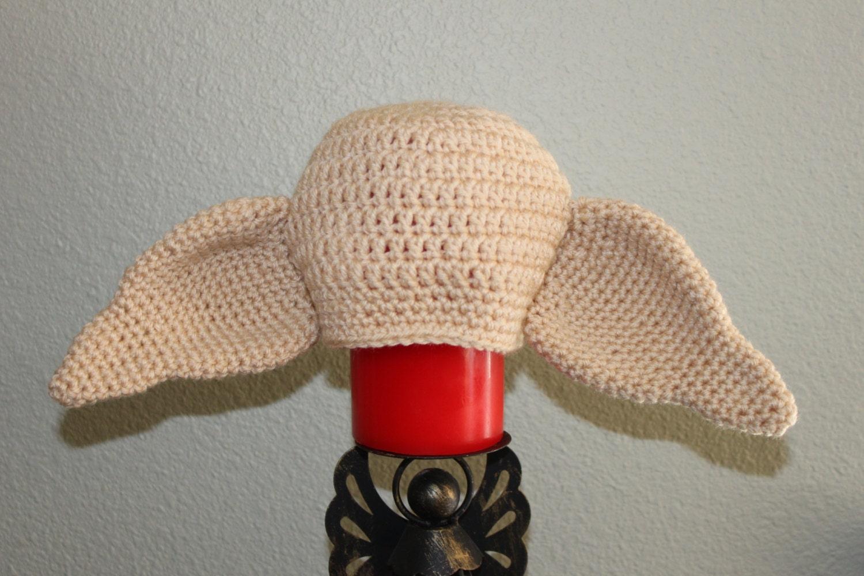 Crochet Dobby the house elf hat. Harry Potter character hat.