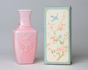 "Avon ""Spring Dynasty"" Rose Pink Fragranced Vase - 1982"