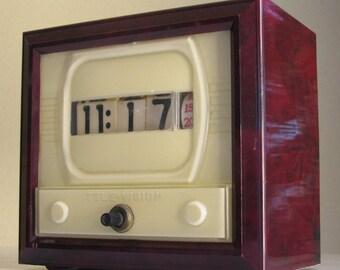 Vintage Numechron Television Flip Clock