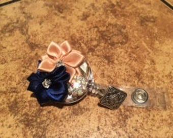 Classic Blue & Ivory ID Badge Reel