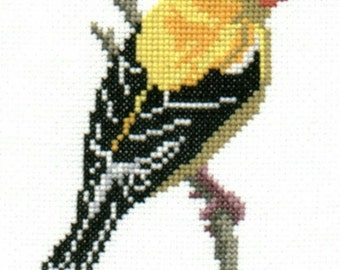 Goldfinch counted cross-stitch chart
