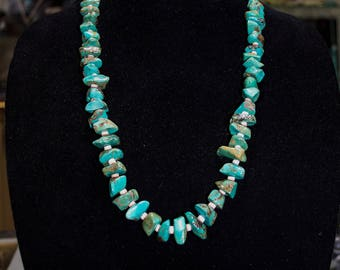 Native American Genuine Turquoise Necklace