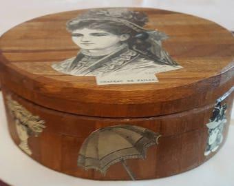 Small round box N 654 prints fashion 1900