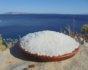 Natural Raw Greek Coarse Sea Salt from Messolonghi, Gourmet Salt , Crystal Salt, Cooking Salt, Bath Salt