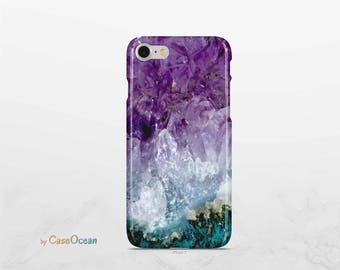 iPhone 7 case iPhone 8 case AMETHYST phone case iPhone X case iPhone SE case, Galaxy S9 case Note8 case Galaxy S8 Plus case Galaxy S7 case