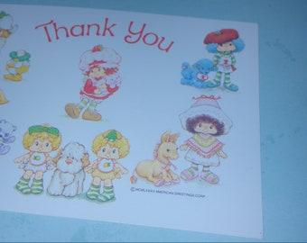 Strawberry Shortcake Vintage Greeting Card  International Friends Post Card UNUSED