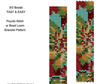 Bead Loom and Peyote Stitch Beadweaving Pattern 27 - For Size 8/0 Seed Beads