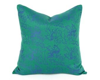 Emerald Green Pillow, Green Throw Pillow, Green Purple Pillow, Wool Pillows, Decorative Pillows, Green Cushion Covers, 14X20, 18x18, 20x20