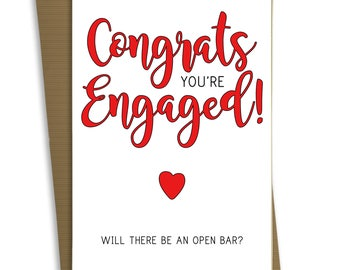 FP0480 Funny Engagement Wedding Card Anniversary Marriage Greeting Card Congratulations