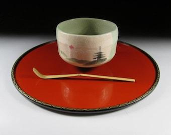 Wajima Nuri Lacquerware Tenshinbon Tray, Koedo