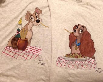 Hand painted Couple T-Shirts